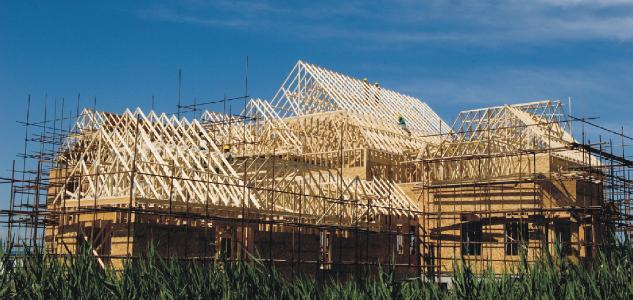 轻型木结构屋盖桁架及其施工方法