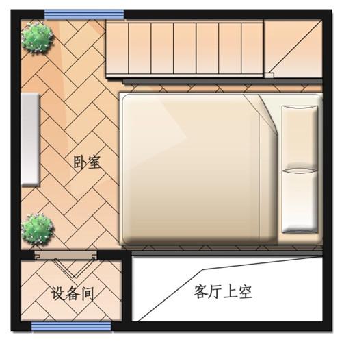 木结构单身公寓二层平面
