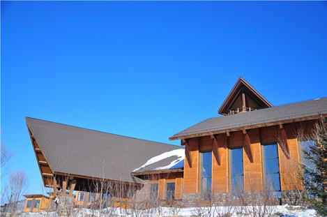 引进加拿大进口原生木材,由苏州昆仑绿建木结构采用北欧建筑风格,倾力